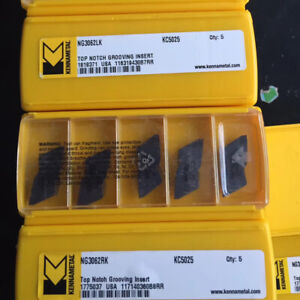 Kennametal Ng3062lk Kc5025 Grooving And Cut off Carbide Inserts 10pcs New