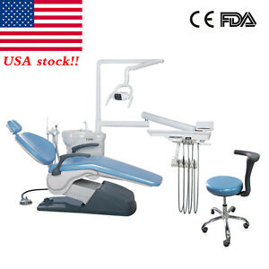 Dental Unit Chair Computer Controlled 110v Doctor Assistant Stool Sky Blue Top