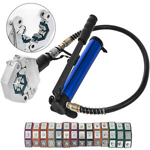 Separable Hydraulic Hose Crimper 7 Dies Hose Fittings Air Conditioner Hand Tool