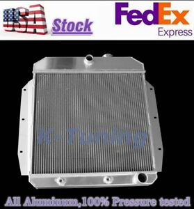 3 Row Radiator 1955 1959 1958 1957 1956 Gmc Chevrolet 3100 3500 Truck V8 l6 Gas
