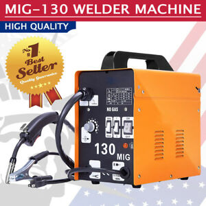 130 Mig Welder Flux Core Wire Automatic Feed Welding Machine With Free Mask