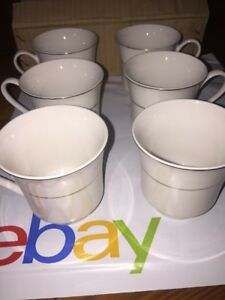 Farberware Porcelain 24k Gold Band 215 Tea Cups Set 6 Ct Euc Elegant Fancy