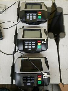 Verifone Mx860 Led Credit Card Terminal M094 409 01 rc W o Ac Adapter Lot Of 3