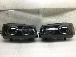 2003 2004 2005 2006 Chevy Silverado Projector Headlight Led Halo Drl Pair H228