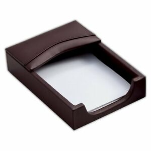 Dacasso Leather Memo Holder Chocolate Brown