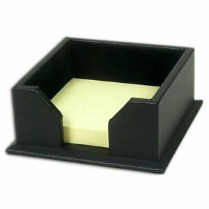 Dacasso Classic Leather Note Holder Black