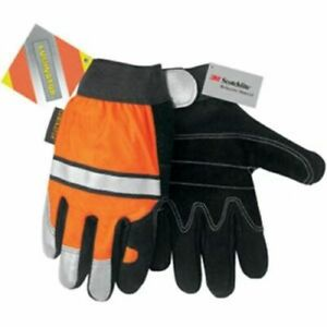 Mcr Safety Multi task Construction Gloves Orange black 911dp