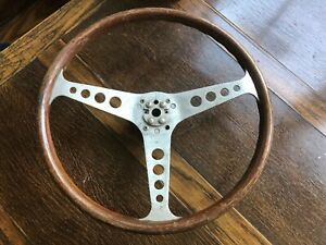 Vintage Walsall Grand Prix 15 Wooden Steering Wheel 60s 70s Les Leston E Type