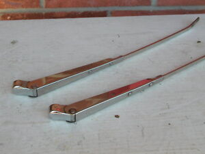 Wiper Arms pair Chrome Universal Vintage Trico 14 Total Length Free Ship