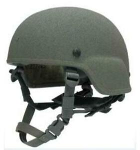 ACH (Advanced Combat Helmet) Small w Harness & Cover ACU Foliage - New In Wrap