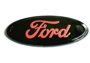 1pc 7 Inch Red Oval Emblem Front Grille Badge For Ford F 150 F 250 F 350 Ranger