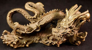 Solid Heavy Bronze Intricate Dragon Statue Sculpture