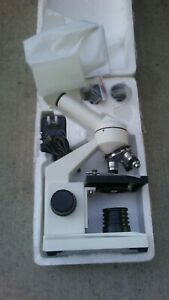 Amscope 40x 1000x Biological Compound Microscope With Prepared And Blank Slides