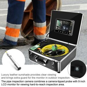 9 lcd 1000 Tvl 22mm Drain Pipe Sewer Inspection Video Camera System 30m Cable