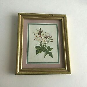 Floral Design Gold Wood Picture Frame 5 5 X 4 5 Mid Century Modern Home Decor