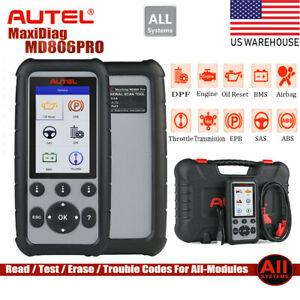 Autel Maxidiag Md806 Pro Obd2 Auto Diagnostic Scanner Tool All System Md808 Us