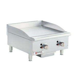 Grindmaster cecilware Ce g24tpf 24 Countertop Gas Pro Griddle