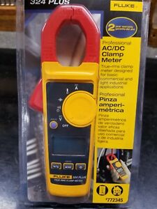 Fluke 324 Plus Ac dc True Rms Clamp Meter Plus Case Distressed Clamshell New