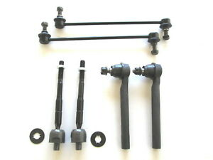 Tie Rod End Honda Odyssey 2005 2010 Front Inner Outer Plus Sway Bar Link Kit
