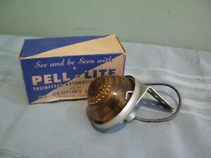 Rare Vintage Nos Pell lite l 1 a Amber Rigid Auto Clearance Trailer Light