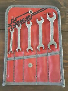 Snap On 5 Piece Ignition Standard Wrench Set With Pouch Sae C 52d Very Nice