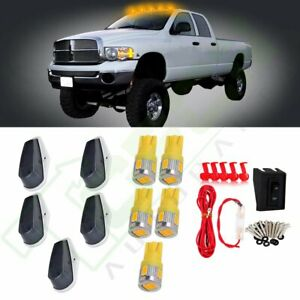 5 Smoke Cab Marker Roof Light warm White Led wiring For Ford F 150 250 350