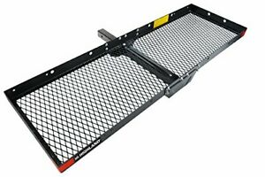 Highland 1042000 Hitch Mounted Cargo Carrier Black