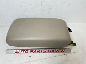 02 08 Toyota Camry Solara Center Console Arm Rest Lid Cover Top Pad Box Beige