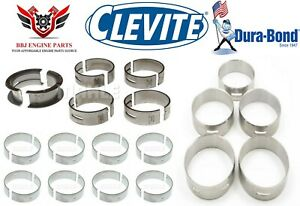 Ford 221 260 289 302 5 0 Clevite Rod Main Bearings With Durabond Cam Bearings