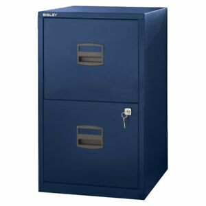 Bisley Two Drawer Steel Home Or Office Filing Cabinet