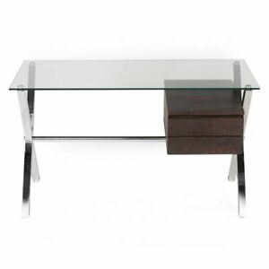 Pangea Home Ella Glass Rectangular Desk Small