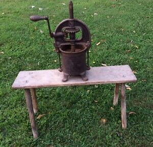 Antique Cast Iron Enterprise Mfg Co Fruit Press Lard Press Saus