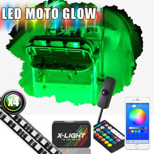 Boat Interior Inside Lighting Led Kit Full Color Changing Glow Neon Strips 4pcs
