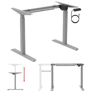 Electric Motorized Height Adjustable Sit Stand Table Desk Frame Home Office Gray