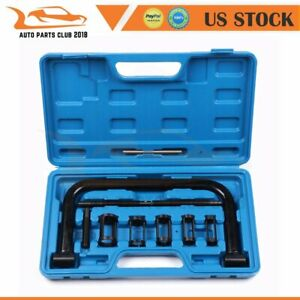 10pcs Valve Clamps Spring Compressor Automotive Set Repair For Car Motorcycle