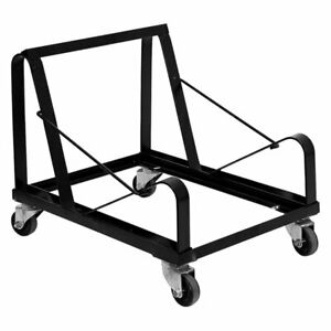 Hercules Series Sled Base Stack Chair Dolly Black