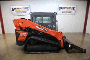 2017 Kubota Svl 75 2 Cab Skid Steer Track Loader 2 Speed