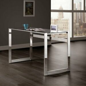 Coaster Furniture Chrome Computer Desk With Glass Top