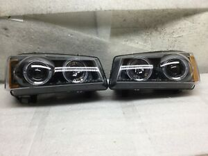 2003 2004 2005 2006 Chevy Silverado Projector Headlight Led Halo Drl Pair H557