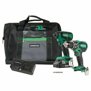Hitachi Kc18dbfl2s 18v Lithium Ion Brushless Hammer Drill And Impact Driver Comb