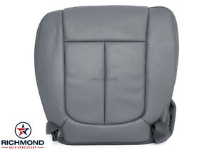 2011 2014 Ford F150 Lariat Driver Side Bottom Perforated Leather Seat Cover Gray
