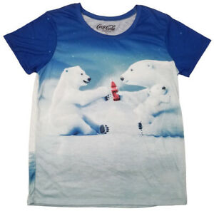 cb7351607ca302 Coca-Cola Classic Coke Polar Bears Womens Juniors T-Shirt size L