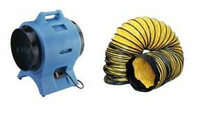 Americ Vaf3000a Confined Space Ventilation Blower Fan And 12 X 25 Foot Ducting