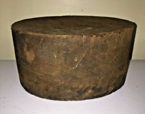 Antique Flat Top Wooden Hat Mold Wood Block Millinery Form Marked 6 5 8