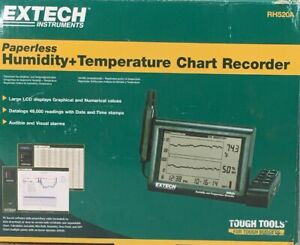 Extech Rh520a Chart Temperature And Humidity Recorder free Shipping