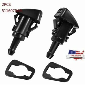 2x Windshield Washer Water Nozzle Spray For Chrysler Dodge Ram Replace 47186