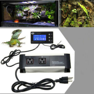 Us Plug Temperature Humidity Controller Thermostat Aquarium Fish Tank Reptile