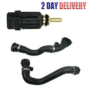 Upper Lower Radiator Hose Kit Sensor Set For Bmw 323 325 328 330 E46