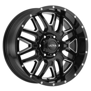 4 New 20x9 Ultra 203bm Hunter Black Wheels Rims 18 5x150