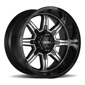 4 New 18x9 Ultra 229u Menace Black Wheels Rims 12 8x6 50